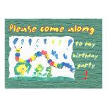 Colorful Caterpillar Custom Announcements