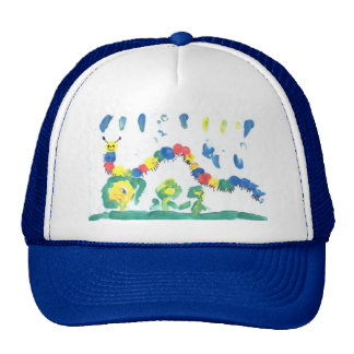 Colorful Caterpillar Trucker Hat