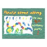 Colorful Caterpillar Personalized Invite
