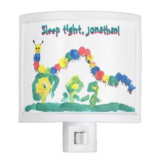 Colorful Caterpillar Sleep Tight Customizable Night Light