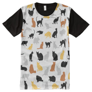 Colorful Cats All-Over-Print Shirt