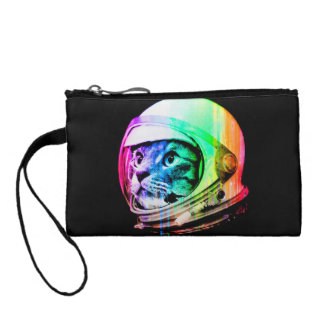 colorful cats - Cat astronaut - space cat Coin Purse