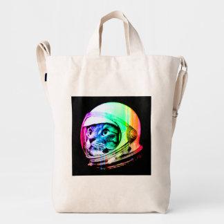 colorful cats - Cat astronaut - space cat Duck Bag