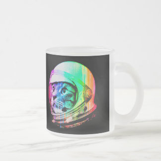 colorful cats - Cat astronaut - space cat Frosted Glass Coffee Mug