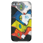 colorful cats drawn in profile iPhone 6 case