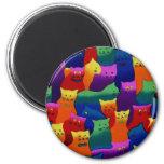 Colorful Cats Fridge Magnet