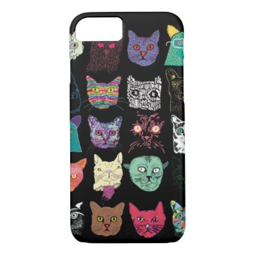 Aztec Themed colorful cats iPhone 7 case