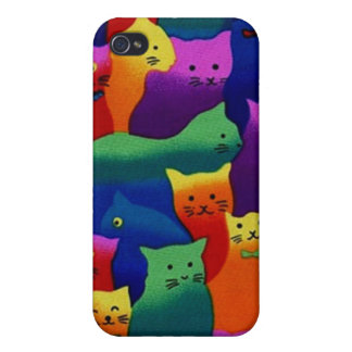 Colorful Cats Case For iPhone 4