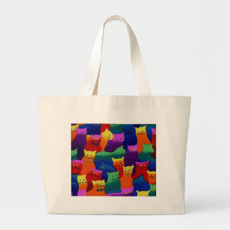 Colorful Cats Jumbo Tote Bag
