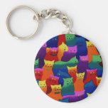 Colorful Cats Keychains