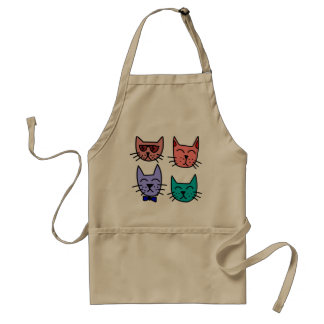 Colorful cats Kitchen apron
