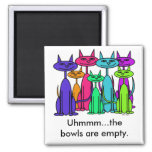 Colorful Cats Magnets