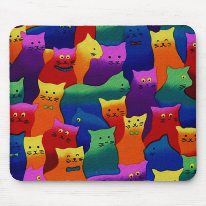 Colorful Cats Mouse Pad