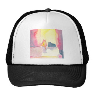Colorful Cats on a Sunny Sofa Hats