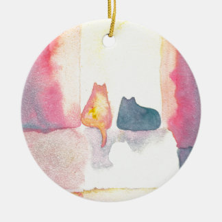 Colorful Cats on a Sunny Sofa Christmas Tree Ornament