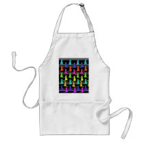 Colorful cats pattern adult apron