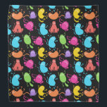 "Colorful cats pattern bandana<br><div class=""desc"">Colorful cats pattern.</div>"