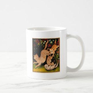 Colorful Cats Romping Artwork Coffee Mug