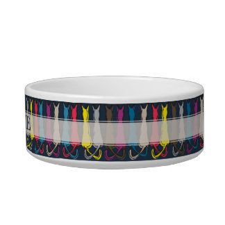 Colorful Cats Silhouette Bowl