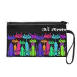 Colorful Cats Wristlet Bag