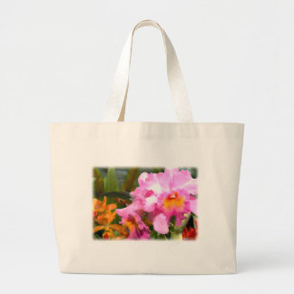 Colorful Cattleyas Large Tote Bag