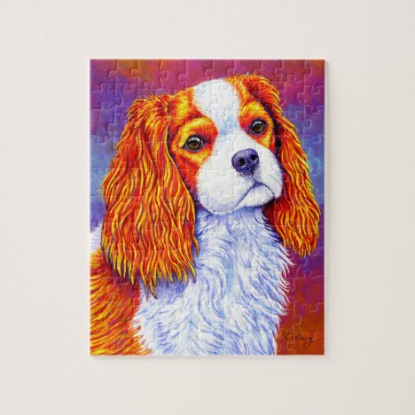 Colorful Cavalier King Charles Spaniel Puzzle