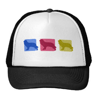 Colorful Cavalier King Charles Spaniel Silhouettes Trucker Hat
