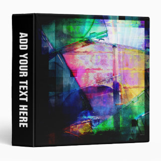 Colorful CD Cases Collage 3 Ring Binder