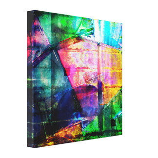 Colorful CD Cases Collage Canvas Print