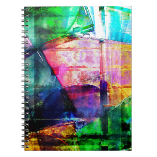 Colorful CD Cases Collage Notebook