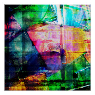 Colorful CD Cases Collage Poster