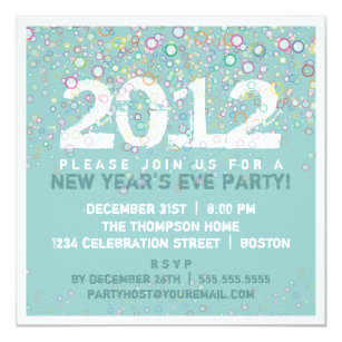 colorful celebration new years eve party invitation