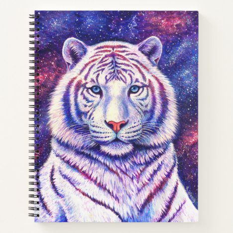 Colorful Celestial Galaxy Tiger Spiral Notebook
