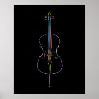 Colorful Cello Poster