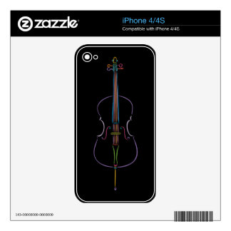 Colorful Cello Skin For iPhone 4