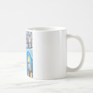 Colorful Cellular Bay (abstract expressionism) Coffee Mug