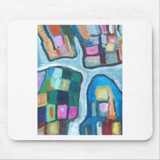 Colorful Cellular Bay (abstract expressionism) Mousepad