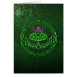 Colorful Celtic Knot Thistle Card