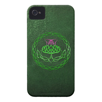 Colorful Celtic Knot Thistle iPhone 4 Case-Mate Case