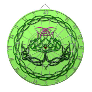Colorful Celtic Knot Thistle Dartboards