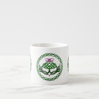 Colorful Celtic Knot Thistle Espresso Cup
