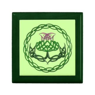 Colorful Celtic Knot Thistle Gift Boxes