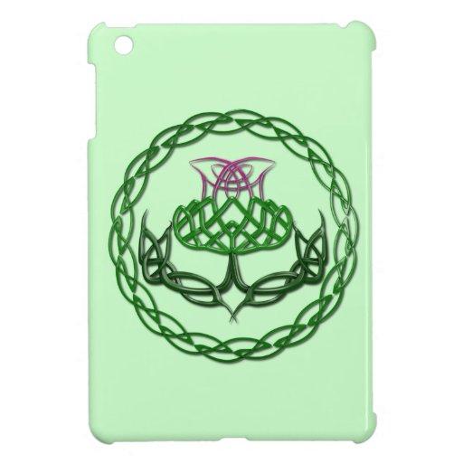 Colorful Celtic Knot Thistle iPad Mini Covers