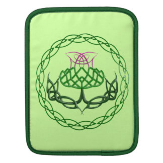 Colorful Celtic Knot Thistle Sleeve For iPads