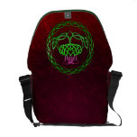 Colorful Celtic Knot Thistle Messenger Bag