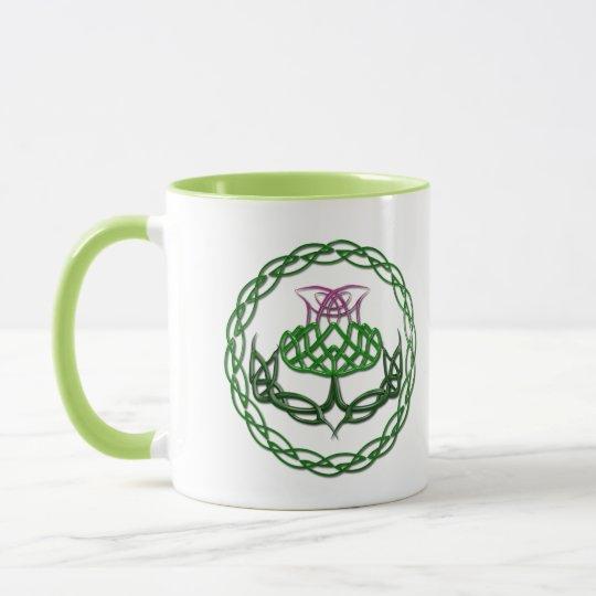 Colorful Celtic Knot Thistle Mug
