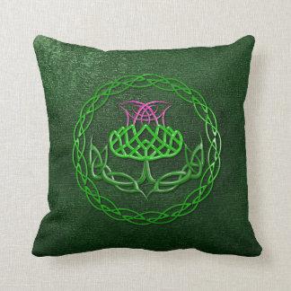 Colorful Celtic Knot Thistle Pillow