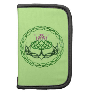 Colorful Celtic Knot Thistle Folio Planners