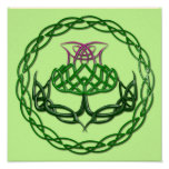 Colorful Celtic Knot Thistle Poster