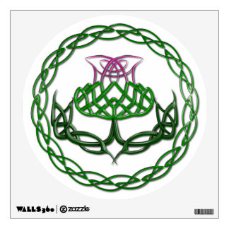 Colorful Celtic Knot Thistle Wall Sticker
